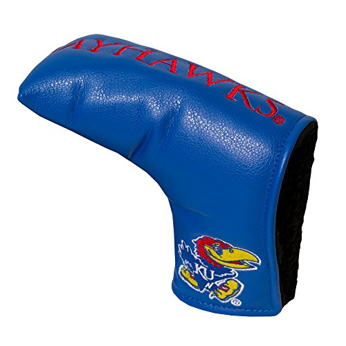 Team Golf NCAA Kansas Jayhawks Golf Club Vintage Blade Putter Headcover, Form Fitting Design, Fits Scotty Cameron, Taylormade, Odyssey, Titleist, Ping, Callaway