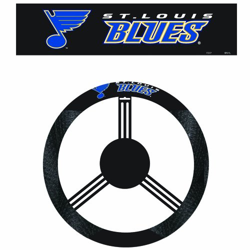 Suede Wheel Steering Poly Cover - Fremont Die NHL St. Louis Blues Poly-Suede Steering Wheel Cover