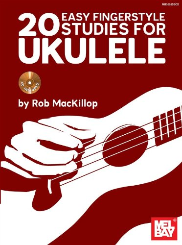 Rob Mackillop: 20 Easy Fingerstyle Studies for Uke. Partitions, CD pour Ukelele (Uke Cd)