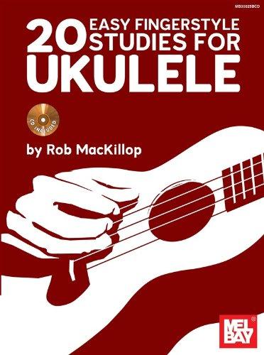 Rob Mackillop: 20 Easy Fingerstyle Studies for Uke. Partitions, CD pour Ukelele (Uke Cd)
