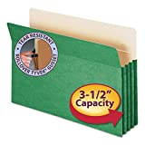 Smead TUFF Pocket Colored Top Tab File Pocket - Legal - 8.5 x 14Top - 3.5 Expansion - 1 Each - Green by Smead