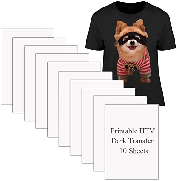 Iron-on Transfers Paper for Light T-Shirts Printable Heat Transfer Vinyl for Inkjet Printer 10 Sheets, 8.5x11, 2nd Generation TOD-5 TransOurDream Tru-Iron on Heat Transfer Paper for Light Fabric
