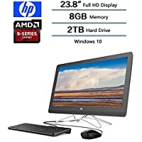 "2018 Newest Flagship HP 23.8"" Full HD All-in-One Desktop, AMD A9-9400 Processor 2.4 GHz, 8 GB DDR4 SDRAM Memory, 2TB Hard Drive, Windows 10 Home W/Optical Drive, Keyboard and Mouse"