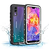 Mishcdea Huawei P20 Waterproof Case Shockproof Snow-Proof Dirt-Proof Full Body Phone Protector Cover