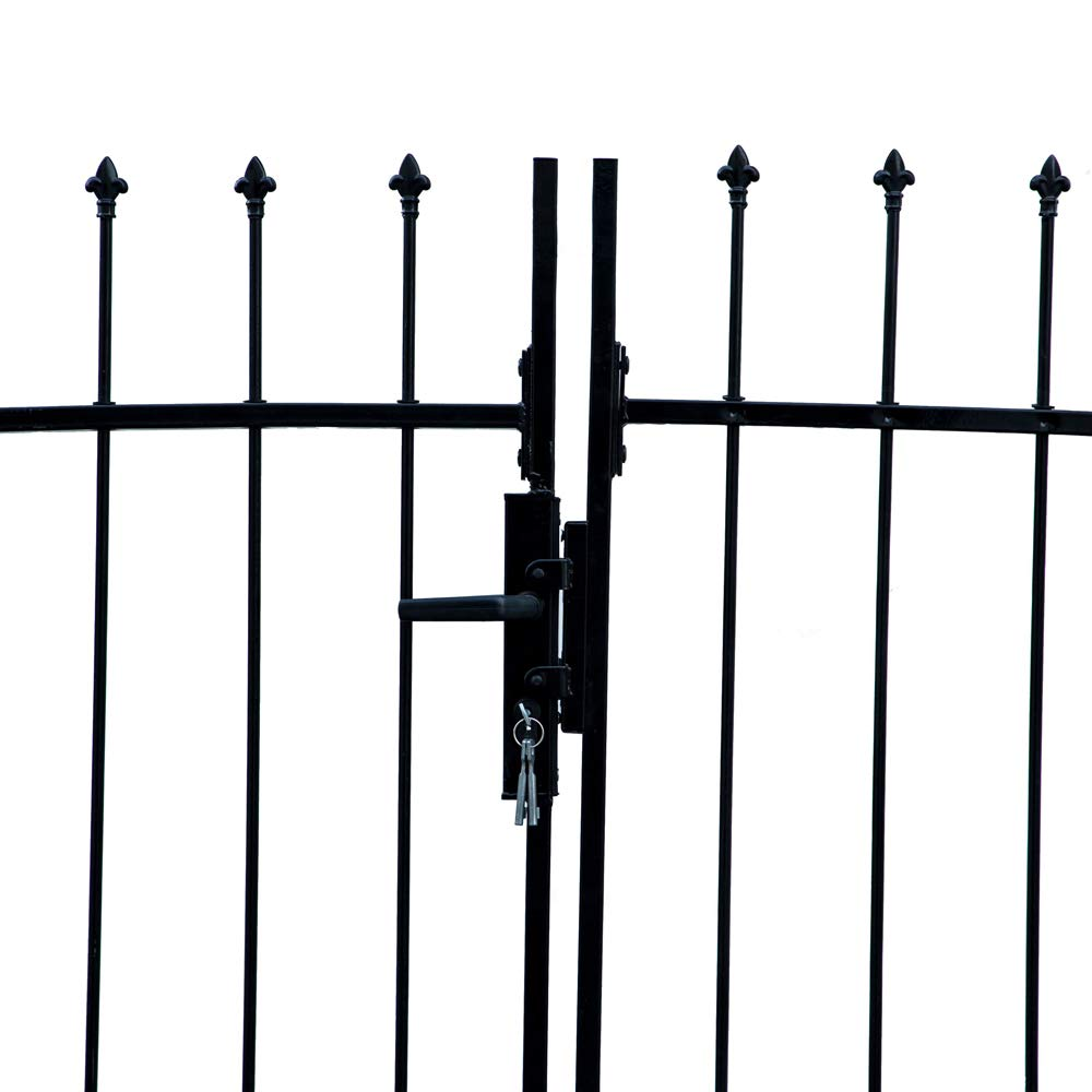 ALEKO DWGD11X5 DIY Arched Steel Dual Swing Driveway Gate Kit with Lock Athens Style 11 x 5 Feet by ALEKO (Image #3)