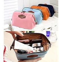ILOVEDIY Portable Makeup Cosmetic Case Toiletry Bag Travel for Women Small Fashion Multifunction (Orange)