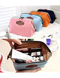 ILOVEDIY Portable Makeup Cosmetic Case Toiletry Bag Travel for Women Small Fashion Multifunction (Pink)