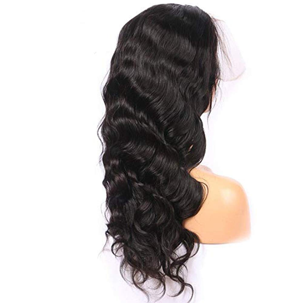 Riya Peluca de pelo humano ondulado brasileño virgen sin procesar con encaje de ondas, peluca delantera sin pegamento para mujer, pelo natural: Amazon.es: ...