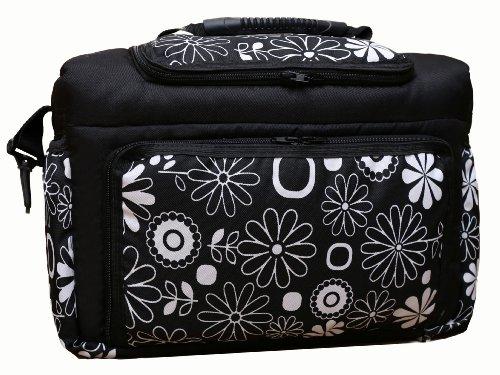 TK-03 Wickeltasche KIM von Baby-Joy XXXL Übergröße Graphit Windeltasche Pflegetasche Babytasche Tragetasche