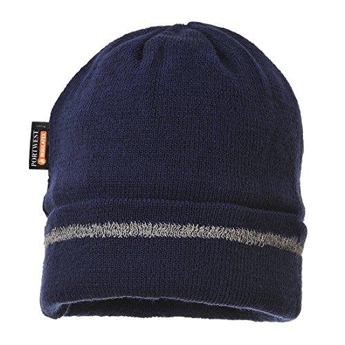 Portwest B023 - Sombrero hecho punto reflectante Recortar, color Negro Armada