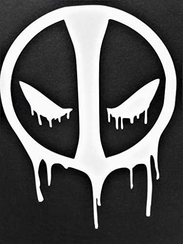 Deadpool Bloody Face Comic Superhero Vinyl Decal Sticker|WHI