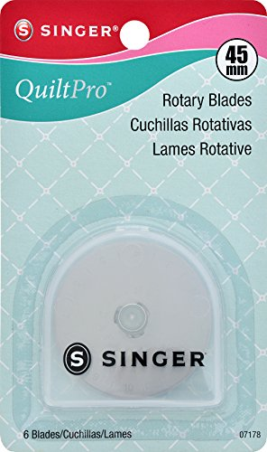 Singer 45-Mm Rotary Cutter Pro Series Replacement Blades, 6 Pieces Per Pack by Singer