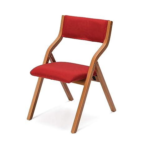 Sillas Plegables de Madera Maciza Mesas y sillas de Comedor de hogar ...