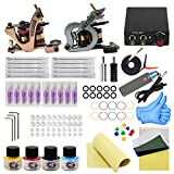 Wormhole Tattoo Complete Tattoo Kit for Beginners Tattoo Power Supply Kit 4 Tattoo Inks 10 Tattoo Needles 2 Pro Tattoo Machine Kit Tattoo Supplies TK1000042