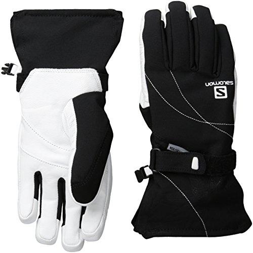 Salomon Women's Propeller Dry Gloves, Black/White, Large