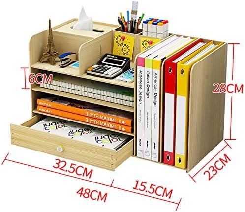 Kangsur Desktop Kosmetik Lagerschrank Büro Werkzeugkasten Hölzern DIY Multifunktional Aufbewahrungskiste H01-9