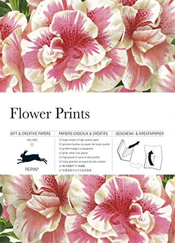 Flower Prints: Gift & Creative Paper Book Vol. 77 (English, Spanish, French, Italian, German, Japanese and Chinese Edition)