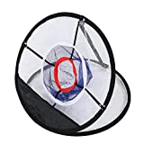 Golfing Target Net Golf Chipping Net Foldable Black Nylon Mesh for Accuracy and Swing Practice Great for All Skill Levels