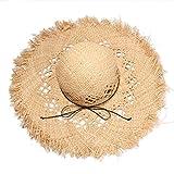 Summer Lafie straw hat Burst Ms. Dayao straw hat visor beach hat Travel hat,True color