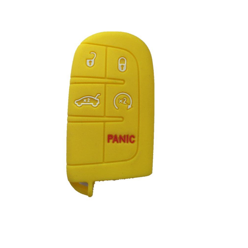 リモート式スマートキー用ケースカバー チェーンやバッグに取り付け 交換用 M3N40821302 yellow B01AX2TDH0 1 1