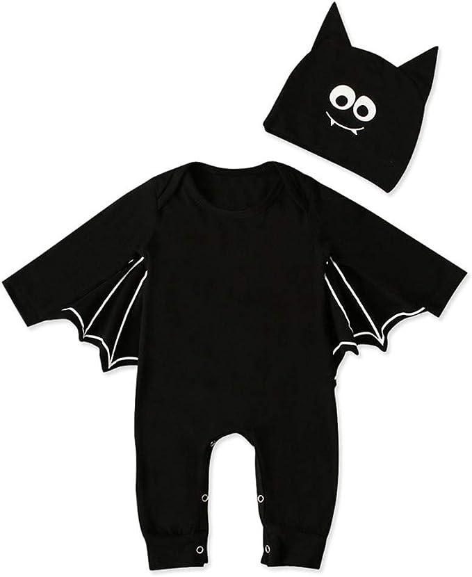 Chauve-Souris Combinaison Halloween Cosplay Costume Pour Bébé Garçon Fille Body with hat kids