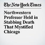 Northwestern Professor Held in Stabbing Death That Mystified Chicago | Matthew Haag