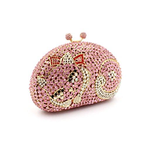 à mariage main de soirée de sac strass A à main Petit Favorite luxe sac d'embrayage Chat fête Mesdames sac de qw4ngA8