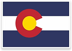 2 x 10cm- 100mm Colorado Flag Vinyl SELF ADHESIVE STICKER Decal Laptop Travel Luggage Car iPad Sign Fun #9007