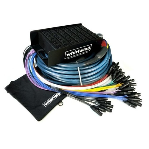 Whirlwind Mini 12 Low Profile Audio Drop Snake 12 X 12 50 ft. by Whirlwind