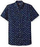 Ben Sherman Men's Short Sleeve Bird Print Shirt, Blue, XXL