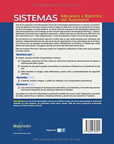 Sistema Mecánico y Eléctrico del Automóvil. Tecnología automotriz (Spanish Edition): Tom Denton: 9788426723901: Amazon.com: Books