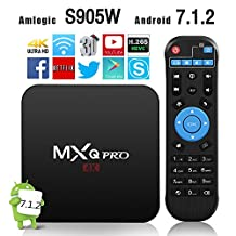 2018 Version GooBang Doo MXQ Pro Android 7.1.2 TV Box Amlogic S905W 64 Bits Quad Core and Supporting 4K (60Hz) Full HD /H.265 /WiFi 2.4GHz