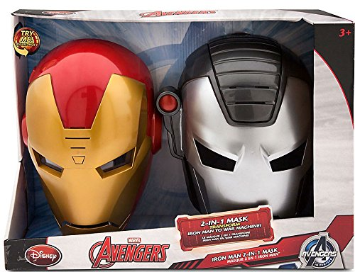 Disney Marvel Avengers Initiative Iron Man 2-in-1 Mask Exclusive Roleplay Toy ()