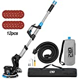 Drywall Sanding Machine with Vacuum Variable Speed and LED Light Drywall Power Sander Innovative Fixture for Ceiling Sanding CUBEWAY ETL Listed