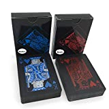 Merytes 2 Deck of Waterproof Poker Cards and Playing Cards with Flexible Plastic