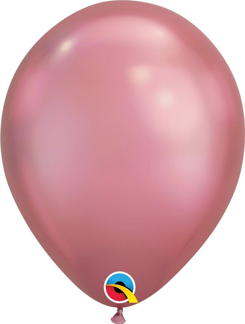 Qualatex Chrome Mauve Metallic 11 inch Latex Balloons 100 Count