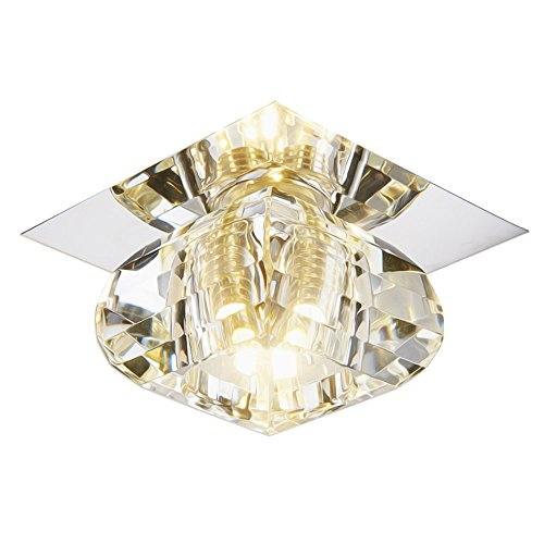 Modern LED Pendant Flush Mount Ceiling Fixtures Light Built in led spotlight background wall danterns ceiling ceiling ceiling small square crystal lamp, 100 h50mm (Spotlight Flush Mount Wall)