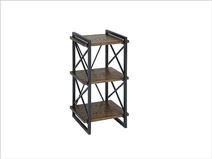 Scaffale per pavimenti retrò a più piani scaffali loft in ferro