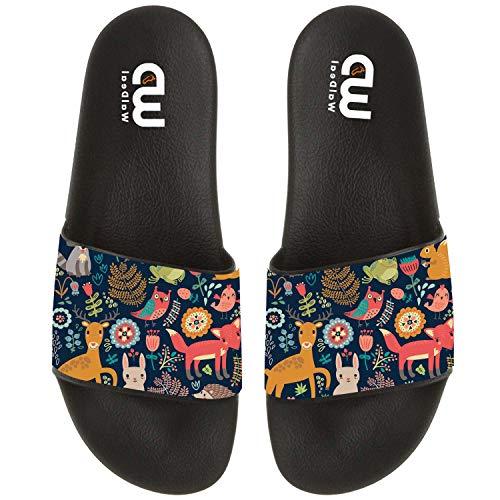 Summer Open Pattern Toe Indoor Kid Sandal Cartoon Women Animal Forest Men Slide Women Slippers For Shoes tFPTqwnA