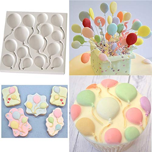 Luyou DIY Birthday Balloons Fondant Cake Silicone Molds Cupcake Mould Cake Baking Tools,Baking Tools For Cakes FM1277 ()