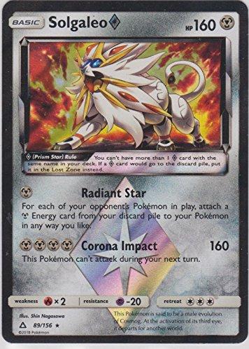 Pokemon - Solgaleo Prism Star- 89/156 - SM Ultra Prism - Holo Rare Card - 2 Rare Card