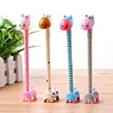 Chanyi(TM) Kids Gifts Novelty Animal Giraffe Ballpoint Pens Ball Pen Set Gifts Prizes for Kids(4pcs)