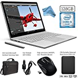 Microsoft Surface Book (128GB SSD, 8GB RAM, Intel 6th Gen Intel i5) + 1TB Portable External Hard Drive USB 3.0 + Surface Carrying Case + Wireless Optical Mouse + Car Charger + DigitalAndMore Cloth