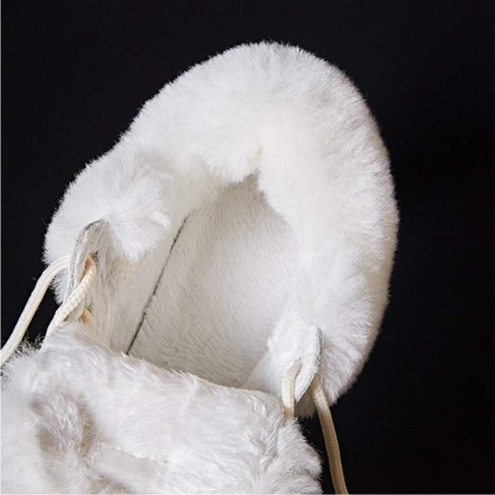 YAN Stivali da Donna Stivali da Neve Neve Neve Stivali Invernali Caldi Stivali con Zeppa Leggera Stivali Esterni Anti Scivolo Scarpe Casual (colore   Un, Dimensione   39) 8a72e5
