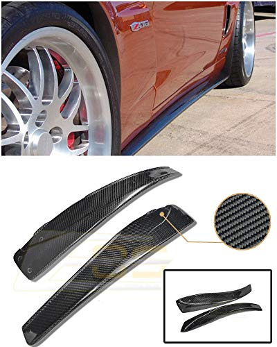 - Extreme Online Store Replacement for 2005-2013 Chevrolet Corvette C6 Grand Sport & Z06 | EOS ZR1 Style Carbon Fiber Side Skirts' Mud Flaps Pair SS-028-MF-BKCF