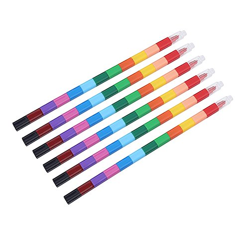 Crayon Sharpener Costume (Exchangeable Crayons Bulk Colored Pencils Art Set of 6 (12 Colors))