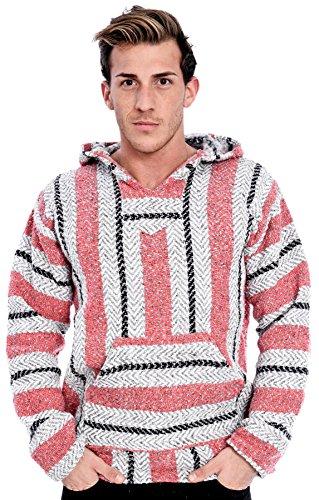 Baja-Joe-Unisex-Pastel-Woven-Baja-Pullover-Hooded-Poncho-Sweater