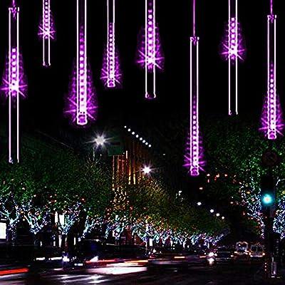 YSIM Meteor Shower Rain Lights, Twinkling Romantic Lights for Party, Wedding, Christmas, etc.11.8inch 8 Tubes