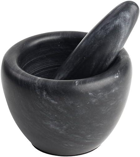 Mini Mortier et Pilon en Marbre Noir