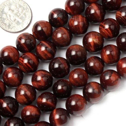 10mm Round red tiger eye stone beads strand (Red Tiger Eye Round Beads)